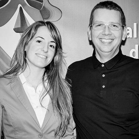 Martin Evening e Marianna Santoni