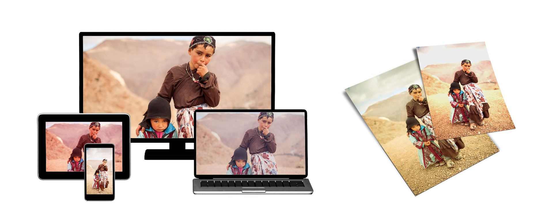 Le foto appaiono con colori diversi su dispositivi diversi: monitor, stampe, smartphone, schermo del computer portatile