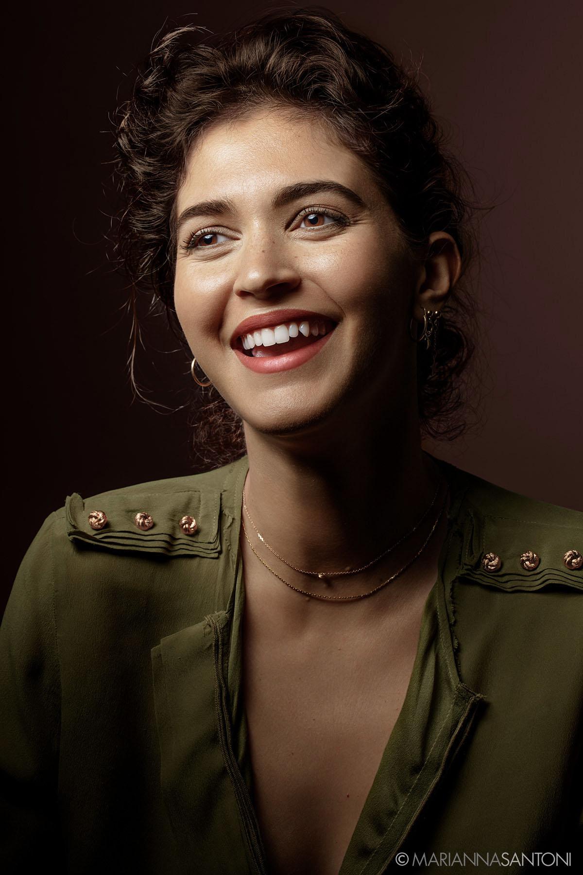 portrait of the model Selene Gnavolini shot by photographer marianna santoni