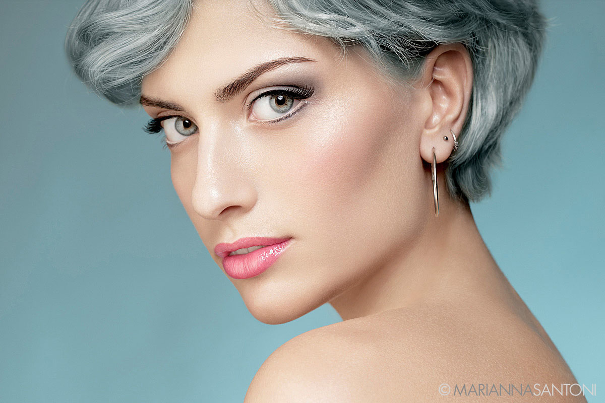 beauty of the model Giorgia Calandra shot by photographer marianna santoni