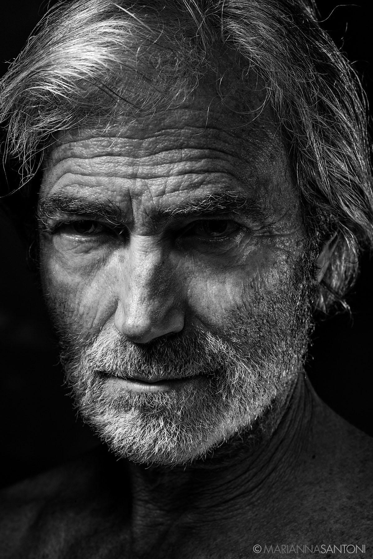 portrait of the model Massimo Gradini shot by photographer marianna santoni
