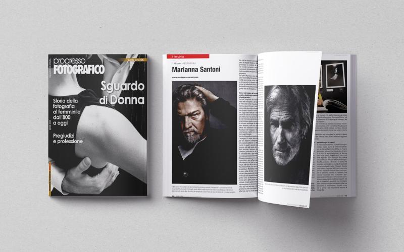 Progresso Fotografico - Copertina e interno intervista Marianna Santoni